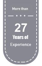More than 27 years of experience